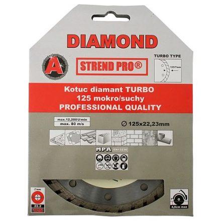 Strend Pro gyémánt vágókorong turbó, 125 mm,standard