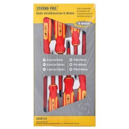Strend Pro villanyszerelő csavarhúzó készlet 6 db-os