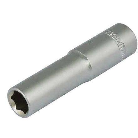 """Whirlpower® hosszított dugófej 10 mm, 1/4"""", 50 mm, Cr-V S2"""