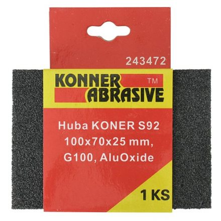 KONER csiszoló szivacs 100x75x25 mm G 100 aluoxid