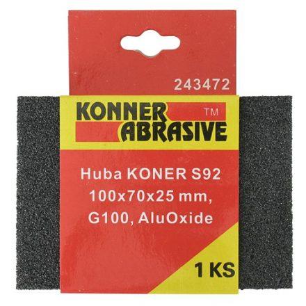 KONER csiszoló szivacs 100x75x25 mm G 0180 aluoxid