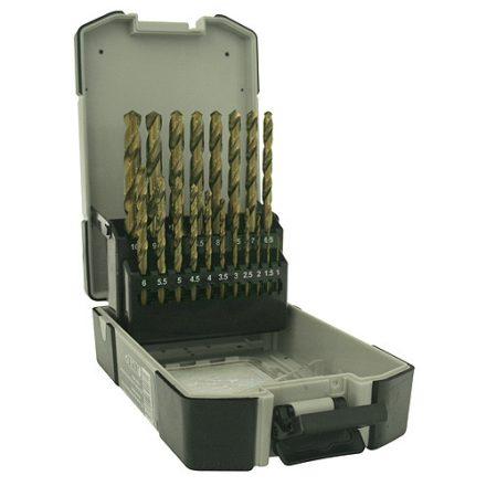 Strend Pro Prémium fémfúró készlet, 1-10 mm 19 db-os, HSS, DIN338